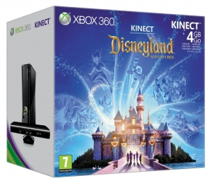 Xbox 360 4GB + Kinect + Disneyland Adventures