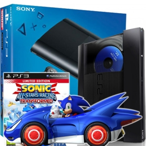 PS3 Super Slim 500GB + Sonic & All-Star Racing